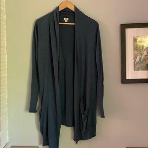 Silk cashmere cardigan blue size medium